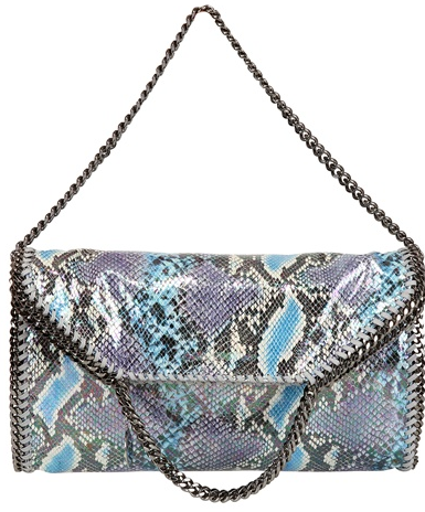 Stella McCartney Falabella bag blue python Stella McCartney Falabella Chain Bag