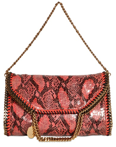 Stella McCartney Falabella bag pink python Stella McCartney Falabella Chain Bag