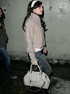 lindsey lohan marc jacobs stam bag Marc Jacobs Quilted Stam Bag
