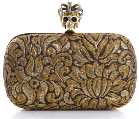 Alexander McQueen Jacquard Skull Clutch