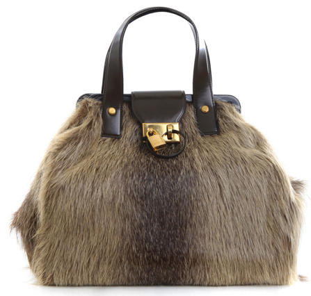 Marc Jacobs Bowling Bag Marc Jacobs Fur Bowling Bag