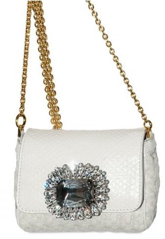 Dolce Gabbana Swarovski and Python Shoulder Bag Dolce & Gabbana Swarovski and Python Bag