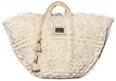 Dolce Gabbana Woven Sicilian Straw and Lace Tote Dolce & Gabbana Woven Sicilian Straw and Lace Tote