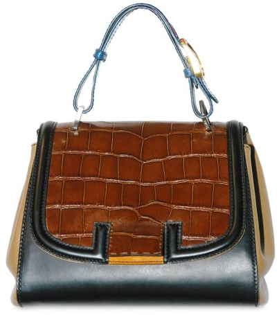 Fendi Croco and Calfskin Fendi Croco and Calfskin Tote