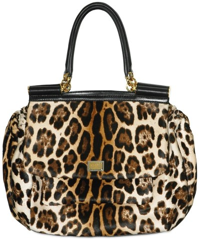 Leopard Horseride Tote by Dolce Gabbana Dolce & Gabbana Leopard Horseride Tote