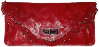 Balmain Ultimate Safety Pins Distressed Clutch Balmain Ultimate Safety Pins Distressed Clutch