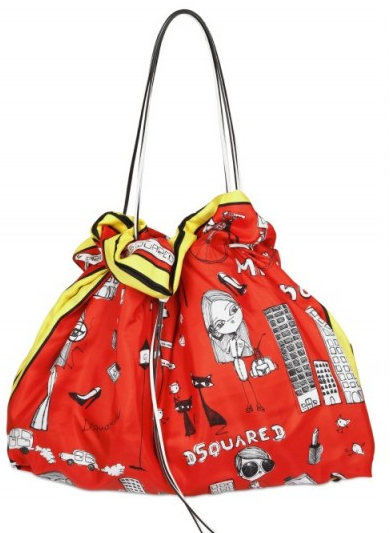 Dsquared Printed Silk Twill1 Dsquared Printed Silk Twill Shoulder Bag