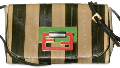 Fendi Striped Eel clutch Fendi Striped Eel Clutch
