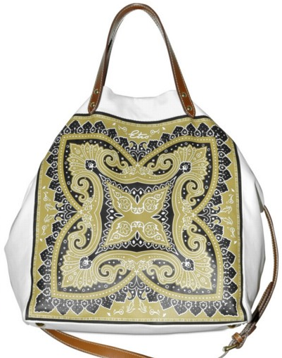 etro printed leather tote Etro Printed Leather Tote