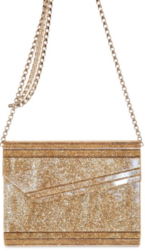 Jimmy Choo Glitter Acrylic Metallic Calf Bag Jimmy Choo Glitter Acrylic Metallic Calf Bag