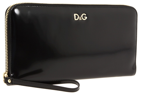 dg clutch D&G Black metallic clutch