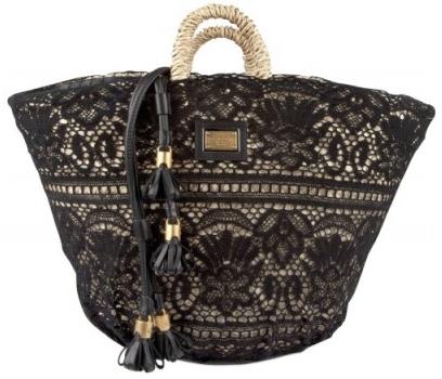 Dolce Gabbana Woven Sicilian Straw lace tote Dolce & Gabbana Woven Sicilian Straw lace tote