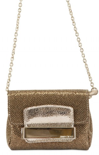 Jimmy Choo Glitter and Metallic calf shoulder bag Jimmy Choo Glitter and Metallic calf shoulder bag