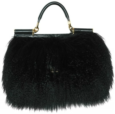 Dolce Gabbana Miss Sicily Mongolia Fur Tote Dolce & Gabbana Miss Sicily Mongolia Fur Tote