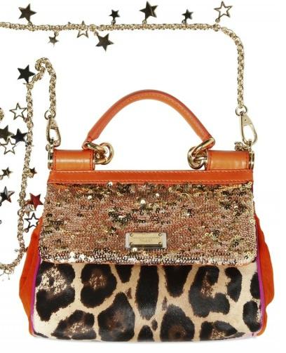Dolce Gabbana Sequin Leopard Print Ponyskin Bag Dolce & Gabbana Sequin & Leopard Print Ponyskin Bag