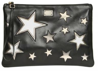 Dolce Gabbana Sequin Star wristlet Dolce & Gabbana Sequin and Star Inserts Calfskin Clutch