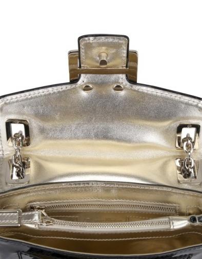 patent metro micro shoulder bag roger vivier Roger Vivier Patent Metro Micro Shoulder Bag