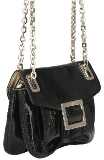 roger vivier patent micro shoulder bag Roger Vivier Patent Metro Micro Shoulder Bag