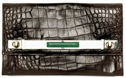 Borbonese Croco Print Clutch The Borbonese Croco Print Calfskin Clutch is super Hot!
