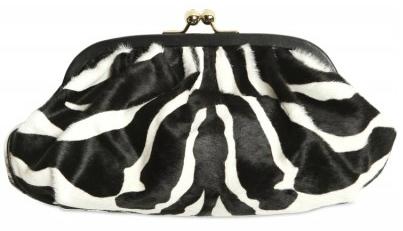Dolce Gabbana Zebra Ponyskin Miss Dea Clutch1 Dolce Gabbana Zebra Print Ponyskin Miss Dea Clutch