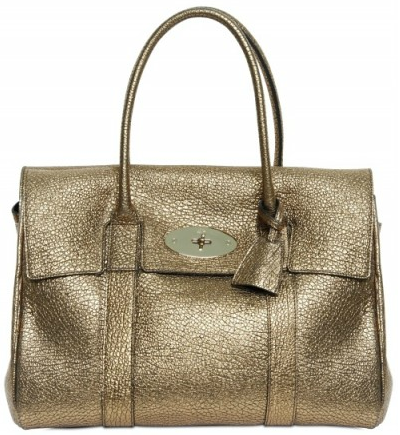 Mulberry Gold Bayswater Sparkle with the Gold Mulberry Bayswater