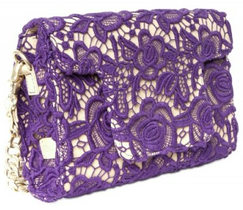 Blumarine Cotton Macrame Clutch Blumarine Cotton Macrame Rubber Clutch