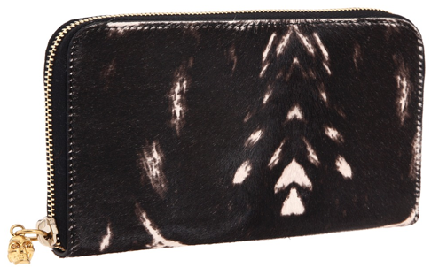 Alexander McQueen Continental Zip Wallet Peppered Pony Print Alexander McQueen Continental Zip Wallet Peppered Pony Print