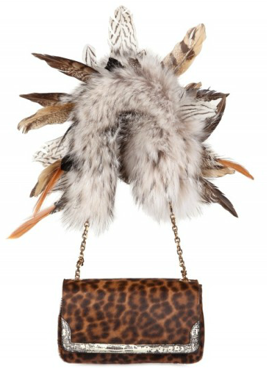 Christian Louboutin Artemis Griffon Pony Feather Shoulder Bag Christian Louboutin Artemis Griffon Pony Feather Shoulder Bag