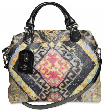 Etro Grainy Leather Tote Etro Grainy Tote