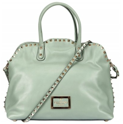 Valentino Dome Studded Brushed Calfskin Tote Valentino Dome Studded Brushed Calfskin Tote