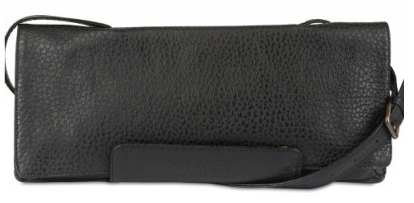 Al Andrea Incontri Printed Leather Clutch black Al Andrea Incontri Printed Leather Clutch