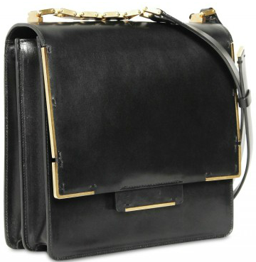 Lanvin Flap Glossy shoulder black bag Lanvin Flap Glossy shoulder bag