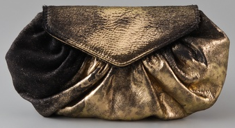 Lauren Merkin Diana Metallic Bags Lauren Merkin Diana Gold and Black Metallic Bag