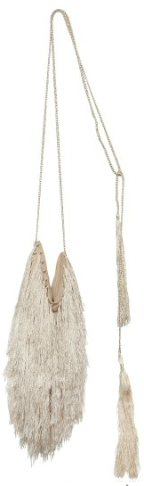 Ann Demeulemeester Silk Fringed shoulder bag Ann Demeulemeester Silk Fringed shoulder bag