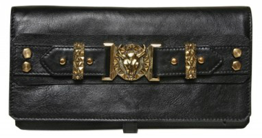 Balmain Delphine Bullhead Leather Clutch Balmain Delphine Bullhead Leather Clutch
