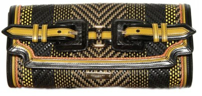 Burberry Prorsum Woven leather clutch yellow Burberry Prorsum Woven clutch