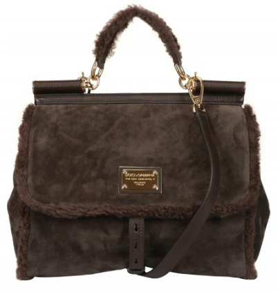 Dolce Gabbana Suede Shearling Miss Sicily Tote Dolce & Gabbana Suede Shearling Miss Sicily Tote