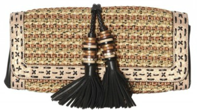Jimmy Choo Lucky Woven Rope and Elaphe Clutch Jimmy Choo Lucky Woven Rope and Elaphe Clutch