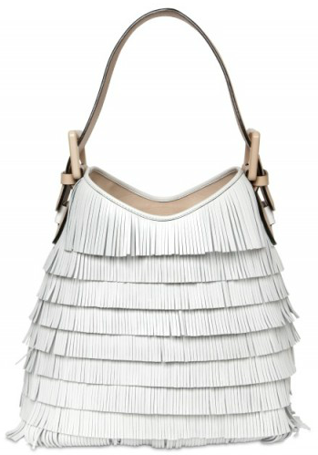 Marc Jacobs Victoria Fringed Bag Get the Swinging 60s style with this summer white tasseled Marc Jacobs Victoria bag