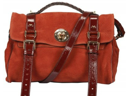 Mulberry Fox Lock Maxi Grain Nubuck Satchels Red/Brown Mulberry Fox Lock Maxi Grain Nubuck Satchel