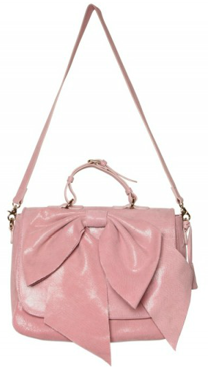 Red Valentino Leather Bow Shoulder Bag 40
