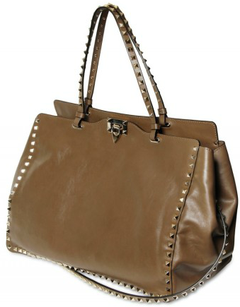 Valentino Rock Studded Brushed Calfskin Totes Gorgeous Valentino Rock Studded Tote