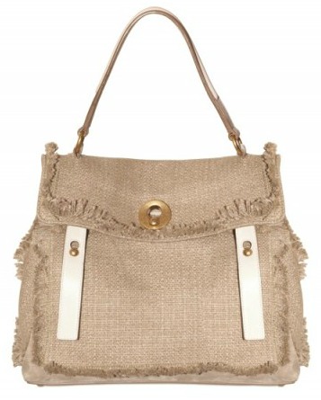 Yves Saint Laurent Muse Two Linen Tote Yves Saint Laurent Muse Two Linen Tote