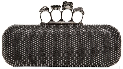 Alexander McQueen Knuckleduster Clutch black Alexander McQueen Gold Ring Knuckle Box Clutch