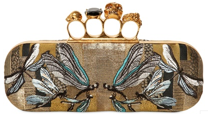 Alexander McQueen Knuckleduster Clutch dragonfly Alexander McQueen Gold Ring Knuckle Box Clutch