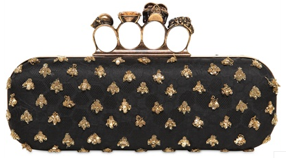 Alexander McQueen Knuckleduster Clutch gold and black Alexander McQueen Gold Ring Knuckle Box Clutch