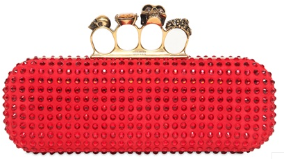 Alexander McQueen Knuckleduster Clutch red Alexander McQueen Gold Ring Knuckle Box Clutch