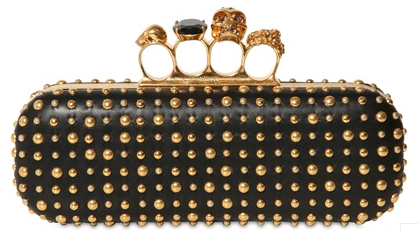 Alexander McQueen Knuckleduster Clutch studded Alexander McQueen Gold Ring Knuckle Box Clutch