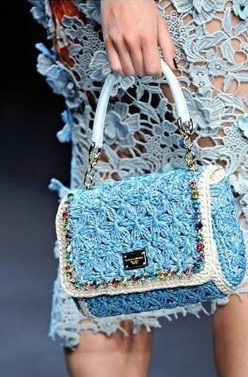 Dolce Gabbana Miss Charles Crochet Dolce & Gabbana Miss Charles Crochet Tote