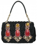 Dolce &amp; Gabbana Miss Charles Jewelled Raffia